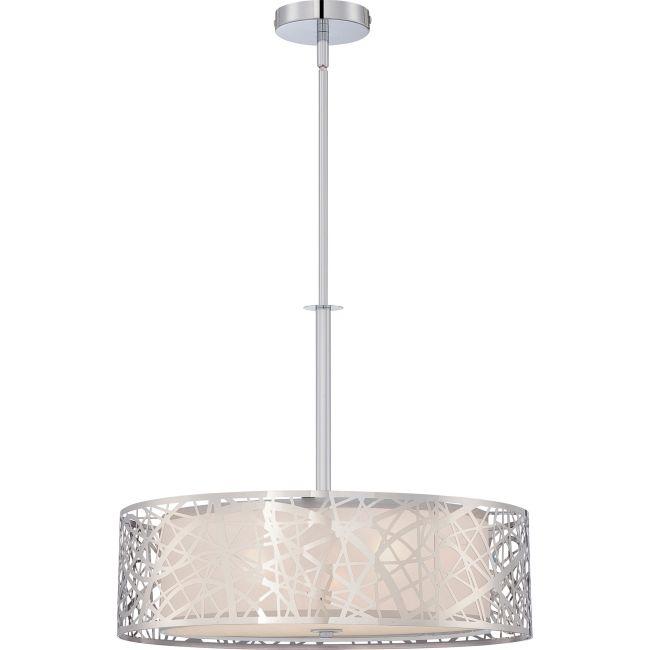 Platinum Abode Pendant  by Quoizel