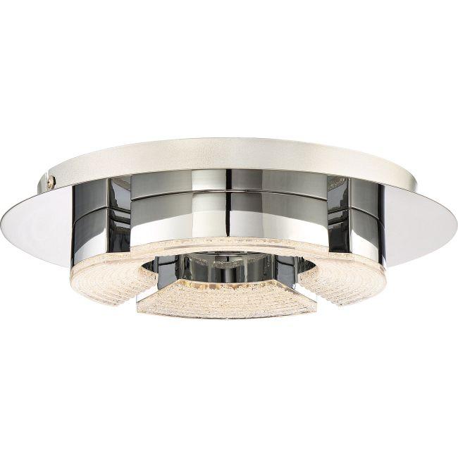 Platinum Lunette Round Ceiling Flush Light  by Quoizel