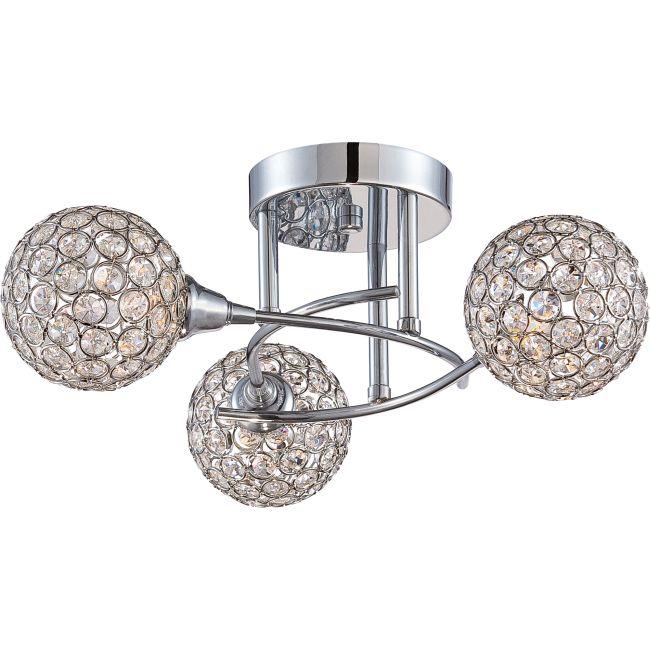 Platinum Shimmer Ceiling Semi Flush Light  by Quoizel