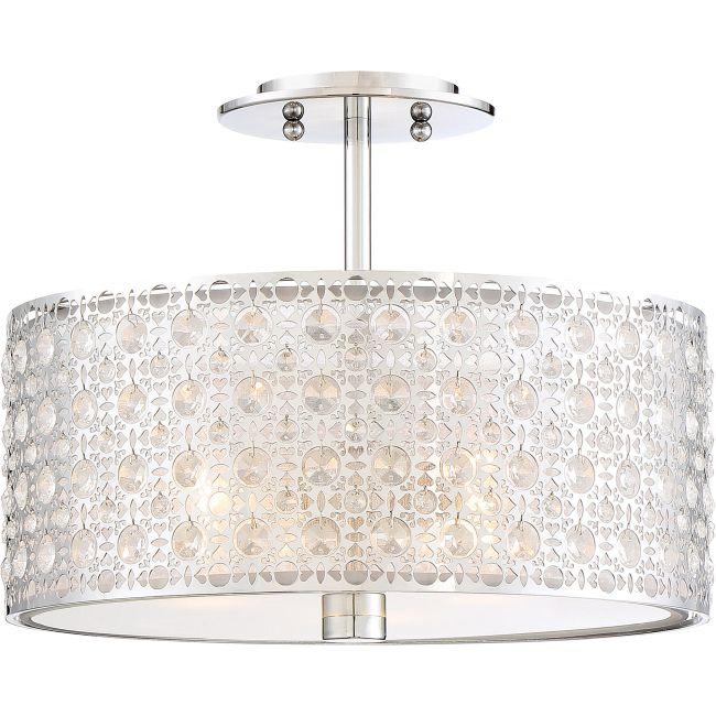 Platinum Verity Ceiling Semi Flush Light  by Quoizel