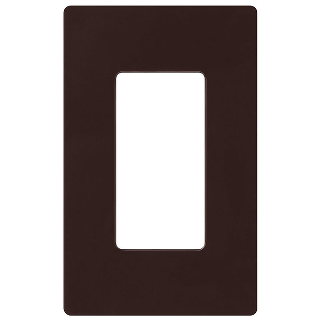 Claro 1-Gang Wall Plate by Lutron | cw-1-br