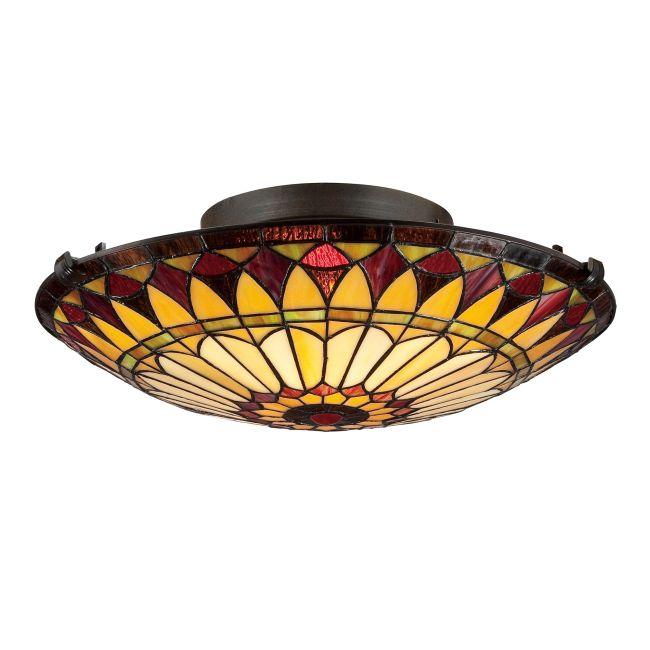 Tiffany 1400 Ceiling Flush Light  by Quoizel