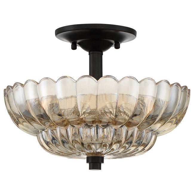Whitecap Ceiling Semi Flush Light  by Quoizel