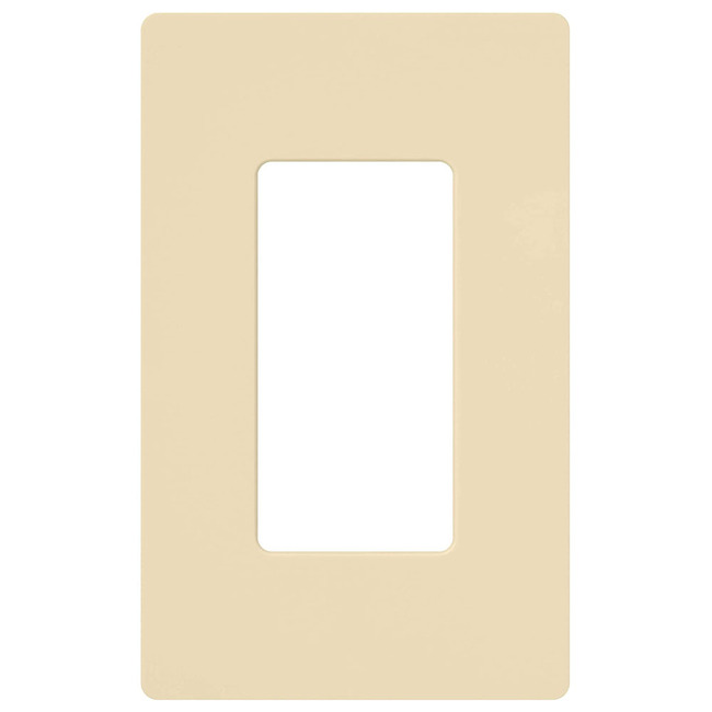 Claro 1-Gang Wall Plate by Lutron | cw-1-iv