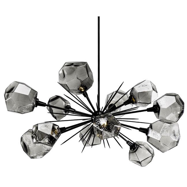 Gem Starburst Oval Chandelier by Hammerton Studio
