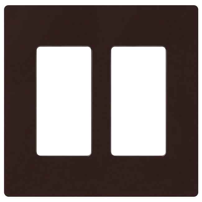 Claro 2-Gang Wall Plate by Lutron   cw-2-br
