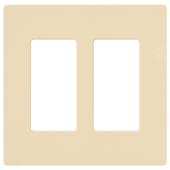Claro 2-Gang Wall Plate  by Lutron