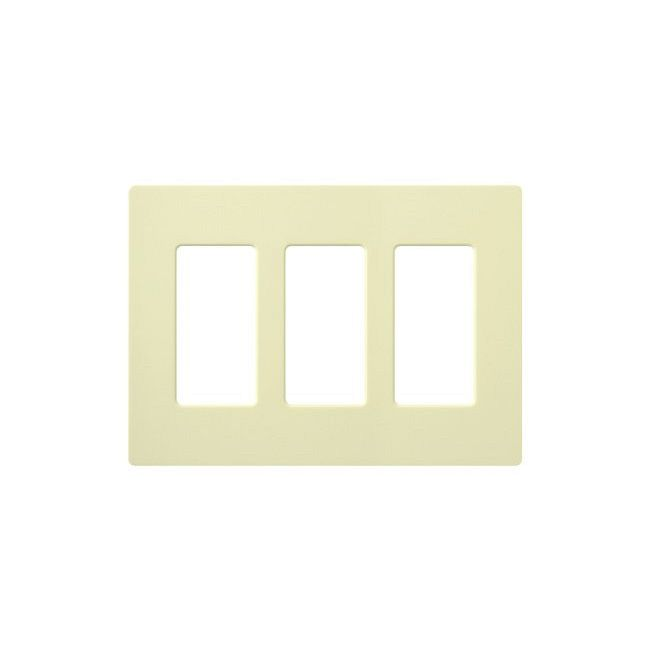 Claro Designer Style 3 Gang Wall Plate by Lutron   CW-3-AL