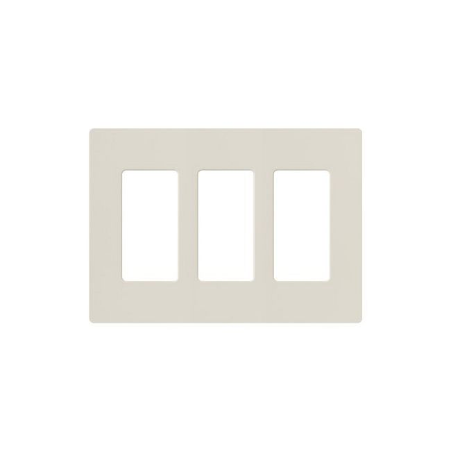 Claro Designer Style 3 Gang Wall Plate by Lutron   cw-3-la