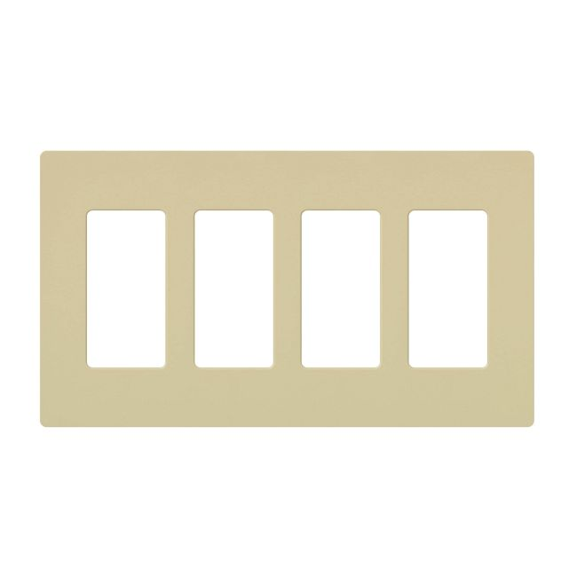 Claro Designer Style 4 Gang Wall Plate by Lutron | cw-4-iv