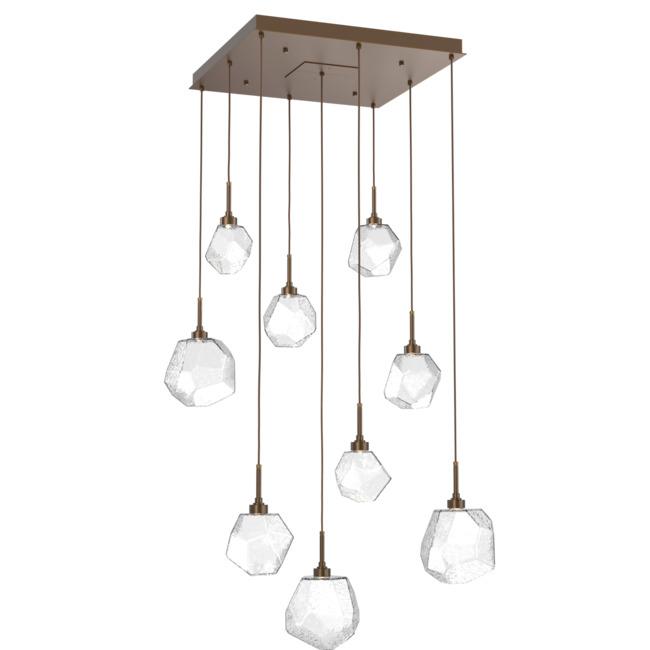 Gem Square Multi Light Pendant  by Hammerton Studio