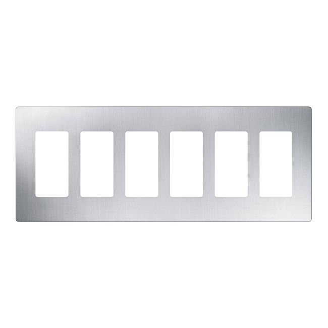 Claro Designer Style 6 Gang Wall Plate by Lutron | CW-6-SS