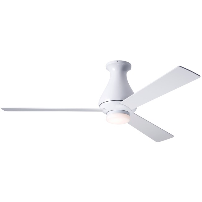 Altus Flush Ceiling Fan with Light by Modern Fan Co. | ALT-FM-GW-42-WH-271-003