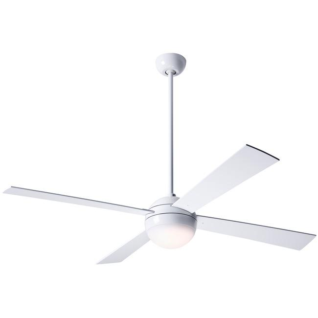 Ball Ceiling Fan with Light by Modern Fan Co. | BAL-GW-42-WH-652-003