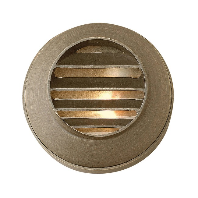 Hardy Island 12V Round Louvered Deck Light by Hinkley Lighting | 16804MZ