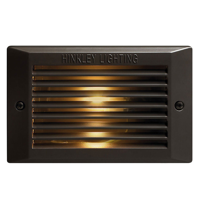 120V Louvered Step Light by Hinkley Lighting | 58025BZ