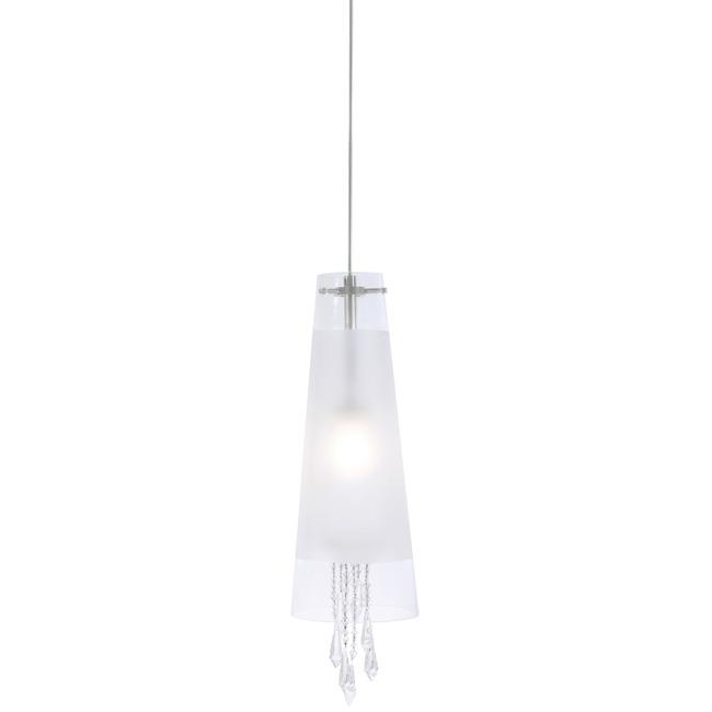 FJ Tower Of Crystal Love Pendant 24V by PureEdge Lighting | FM-FJ-TOL-CS-24-SN-TCRY