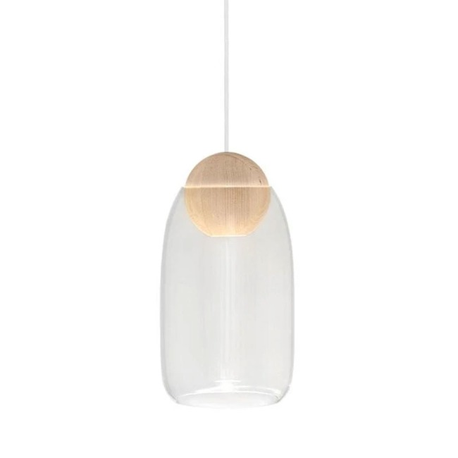 Liuku Ball Pendant with Glass Shade  by Mater Design