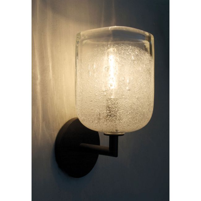 Bubble Square Wall Light with Round Canopy by Siemon & Salazar | 27-57-129-BZ