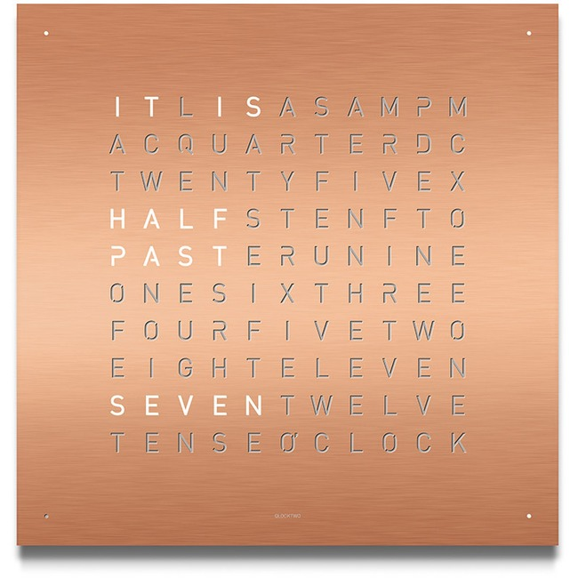 Qlocktwo Metallic Classic Wall Clock  by Qlocktwo by Biegert & Funk