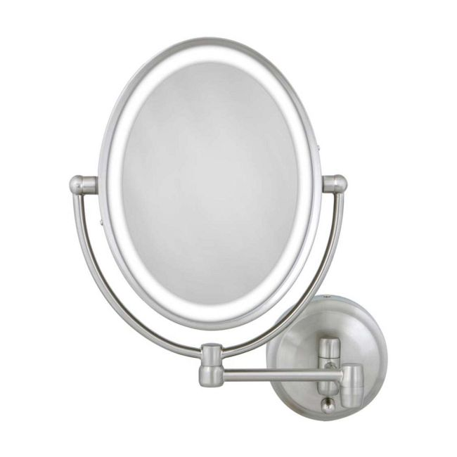 Cordless Oval 1X/10X LED Wall Mount Mirror  by Zadro