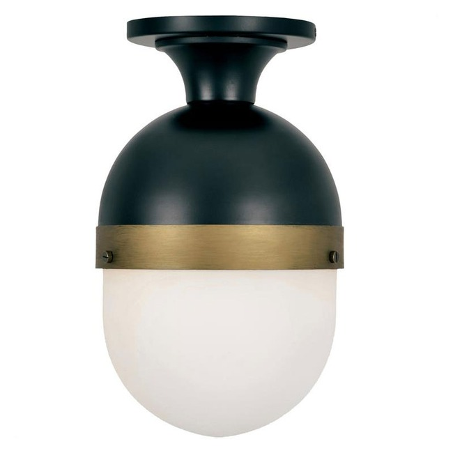Capsule Outdoor Semi Flush Ceiling Light  by Crystorama