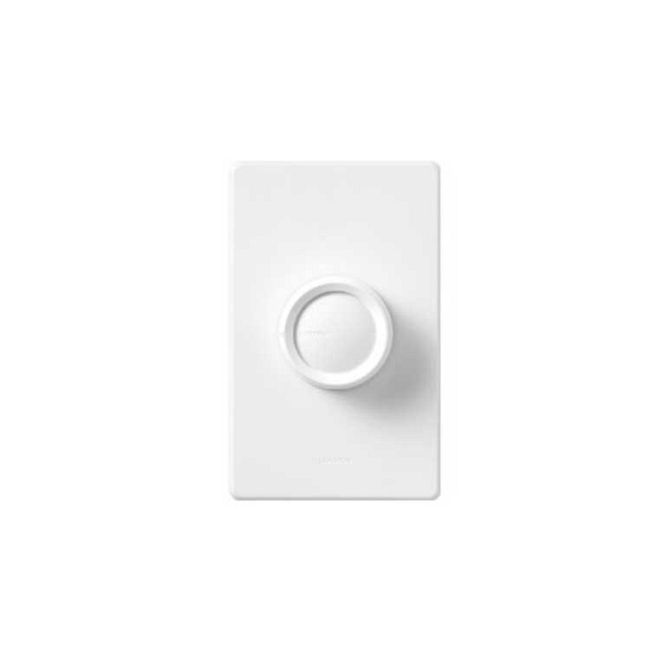 Rotary 5E Fully Variable On /Off Fan Control by Lutron | FS-5E-WH