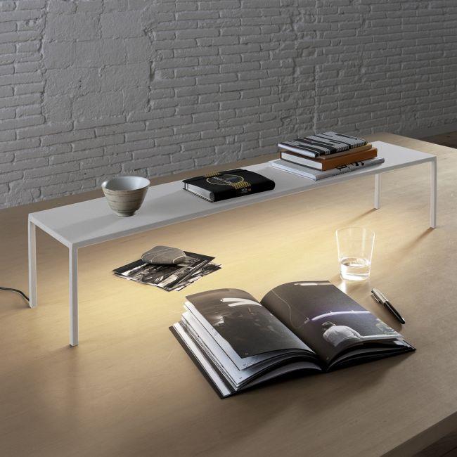 BlancoWhite Rectangular Table Lamp  by Santa & Cole
