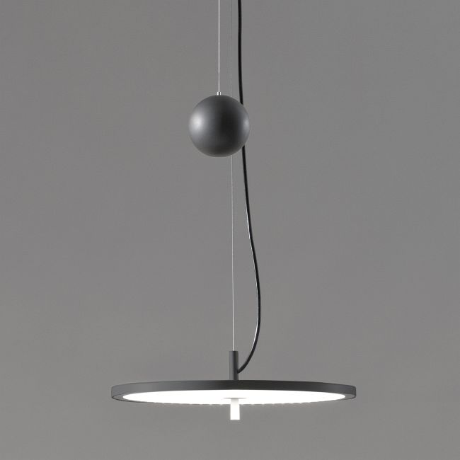 BlancoWhite Counterweight Pendant  by Santa & Cole