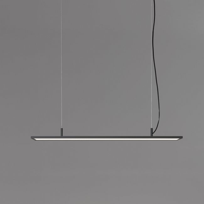 BlancoWhite Rectangular Linear Pendant  by Santa & Cole