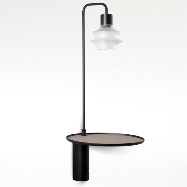 Drip Drop Tall Wall Light with Shelf  by Bover