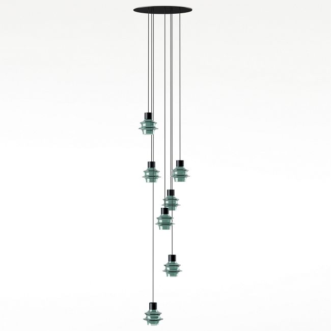 Drip Drop Multi Light Pendant  by Bover