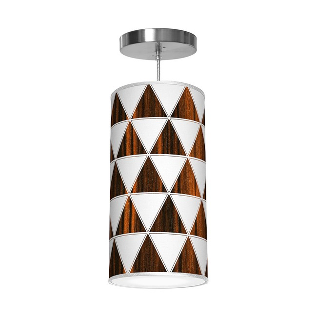 Triangle 1 Column Pendant  by Jef Designs