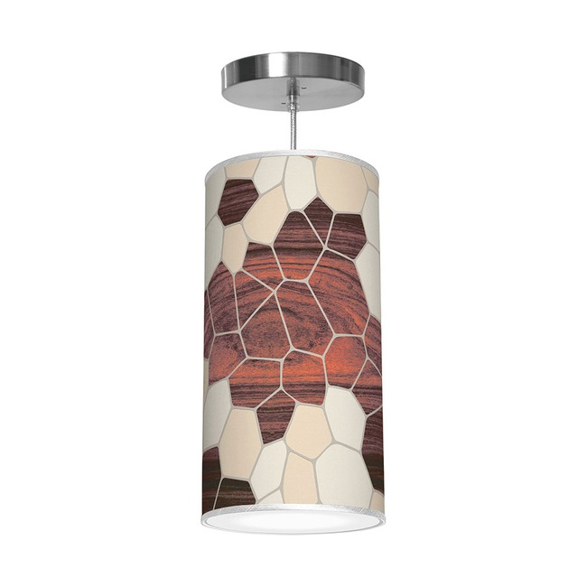 Geode Column Pendant  by Jef Designs