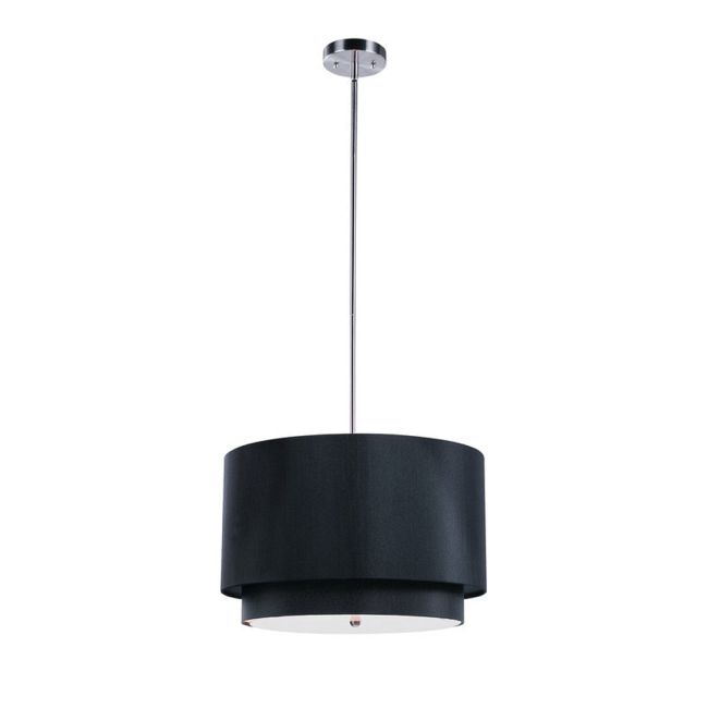Tiered Shade Wide Pendant by Trans Globe   PND-802 BK