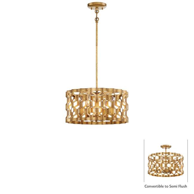 Coronade Convertible Pendant / Semi Flush Mount  by Metropolitan Lighting