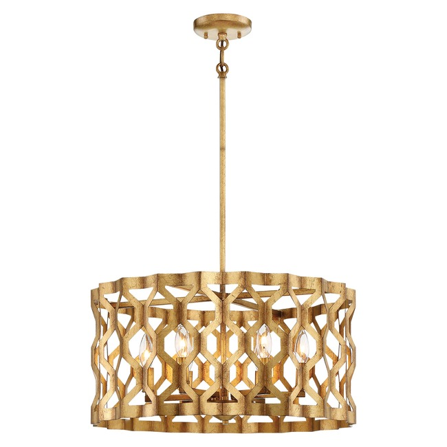 Coronade Drum Pendant  by Metropolitan Lighting