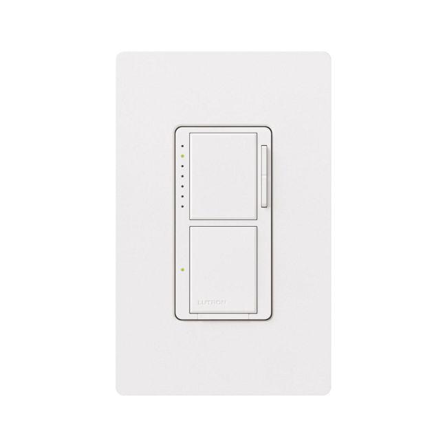 Maestro 300W Dual Digital Fade Dimmer / Digital Swich by Lutron | MA-L3S25-WH