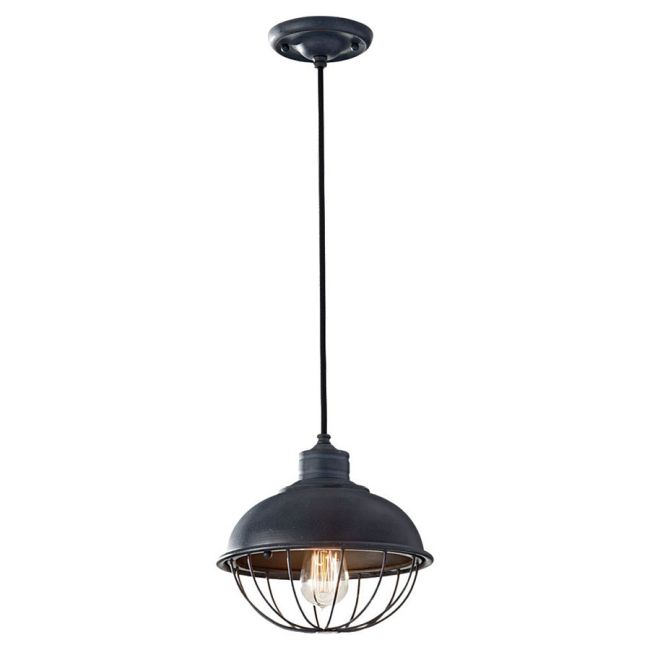 Urban Renewal Half Caged 1242 Pendant by Feiss | P1242AF