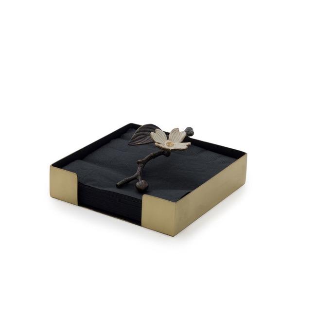 Dogwood Cocktail Napkin Box  by Michael Aram