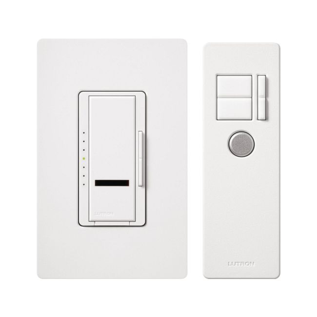 Maestro IR Digital Fade 600W Incandescent Dimmer Package by Lutron | mir-600thw-wh