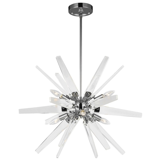 Thorne Acrylic Chandelier  by Feiss
