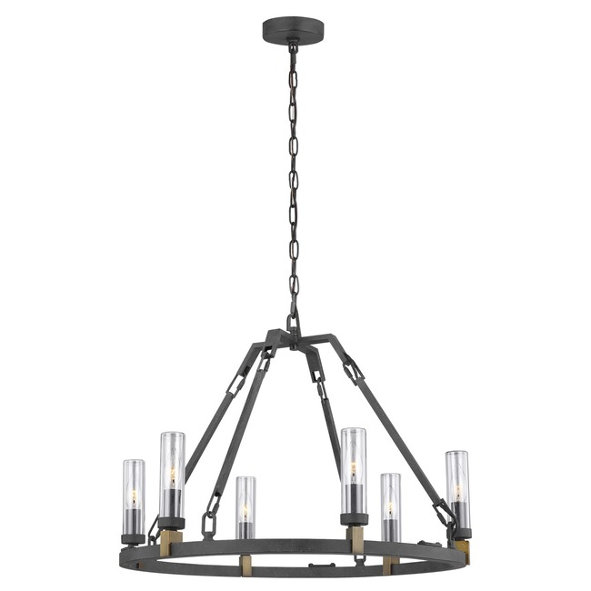Landen Outdoor Chandelier  by Feiss