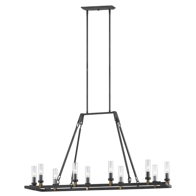 Landen Outdoor Linear Chandelier  by Feiss