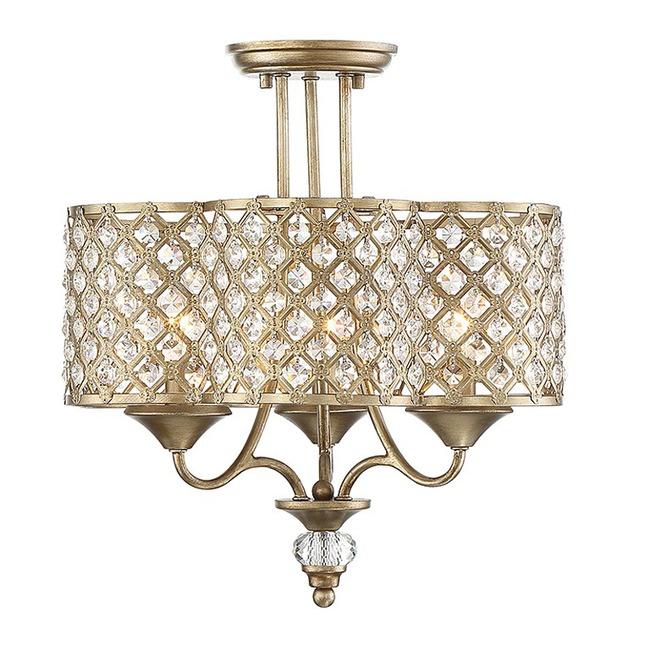 Regis Ceiling Semi Flush Light  by Savoy House