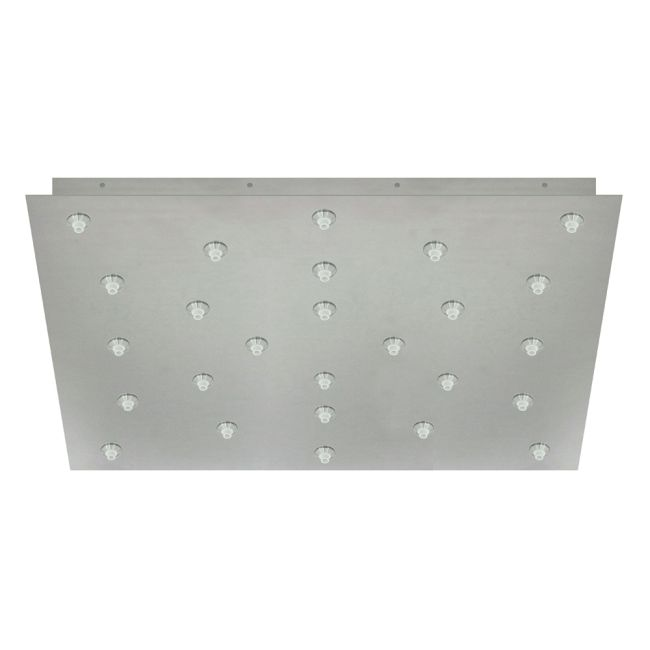 Fast Jack 24 Inch Square 26 Port Canopy by PureEdge Lighting | FJP-24SQ-26-20W-SN