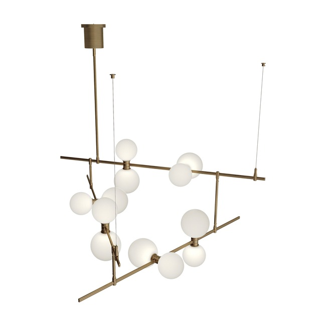 ModernRail Orb Chandelier 2  by Tech Lighting