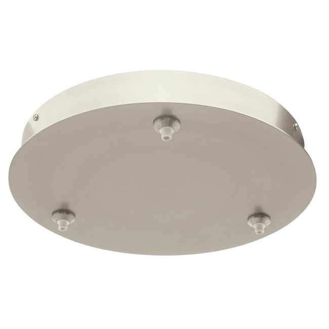 FJ 12 Inch Round 3 Port Canopy Without Transformer by PureEdge Lighting | FJC-12RD-3-SN