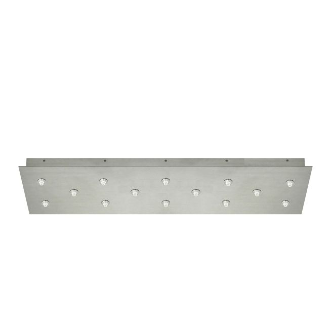 FJ 34 Inch Rectangle 14 Port Canopy Without Transformer by PureEdge Lighting | FJC-33RE-14-SN
