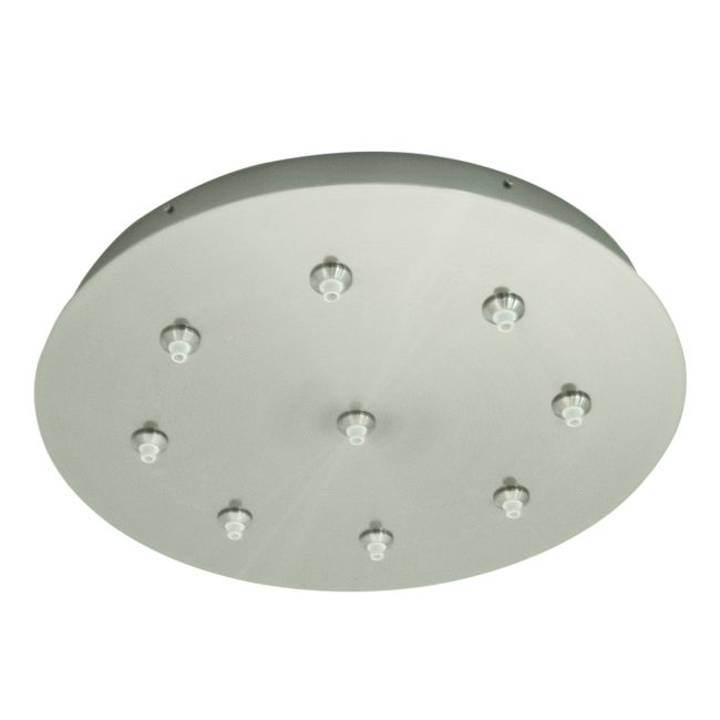 FJ 16 Inch Round 9 Port Canopy Without Transformer by PureEdge Lighting | FJC-16RD-9-SN